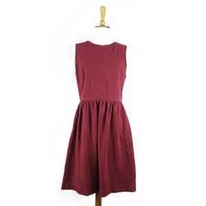 J. Crew Factory red sleeveless cotton dress,, sz L